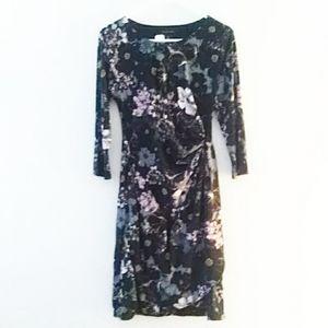 Tahari Floral Dress Sz 8